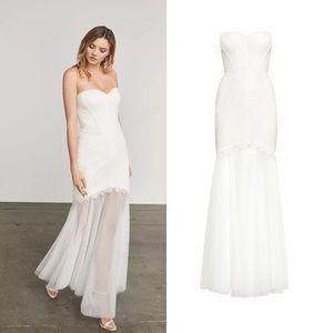 BCBG MAXAZRIA ALYCE Strapless Lace Gown Dress NWT
